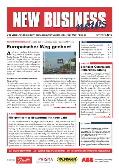 Cover: NEW BUSINESS News - 02-03/2017