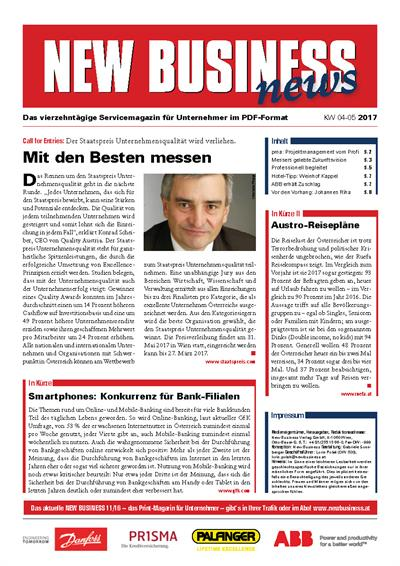 Cover: NEW BUSINESS News - 04-05/2017