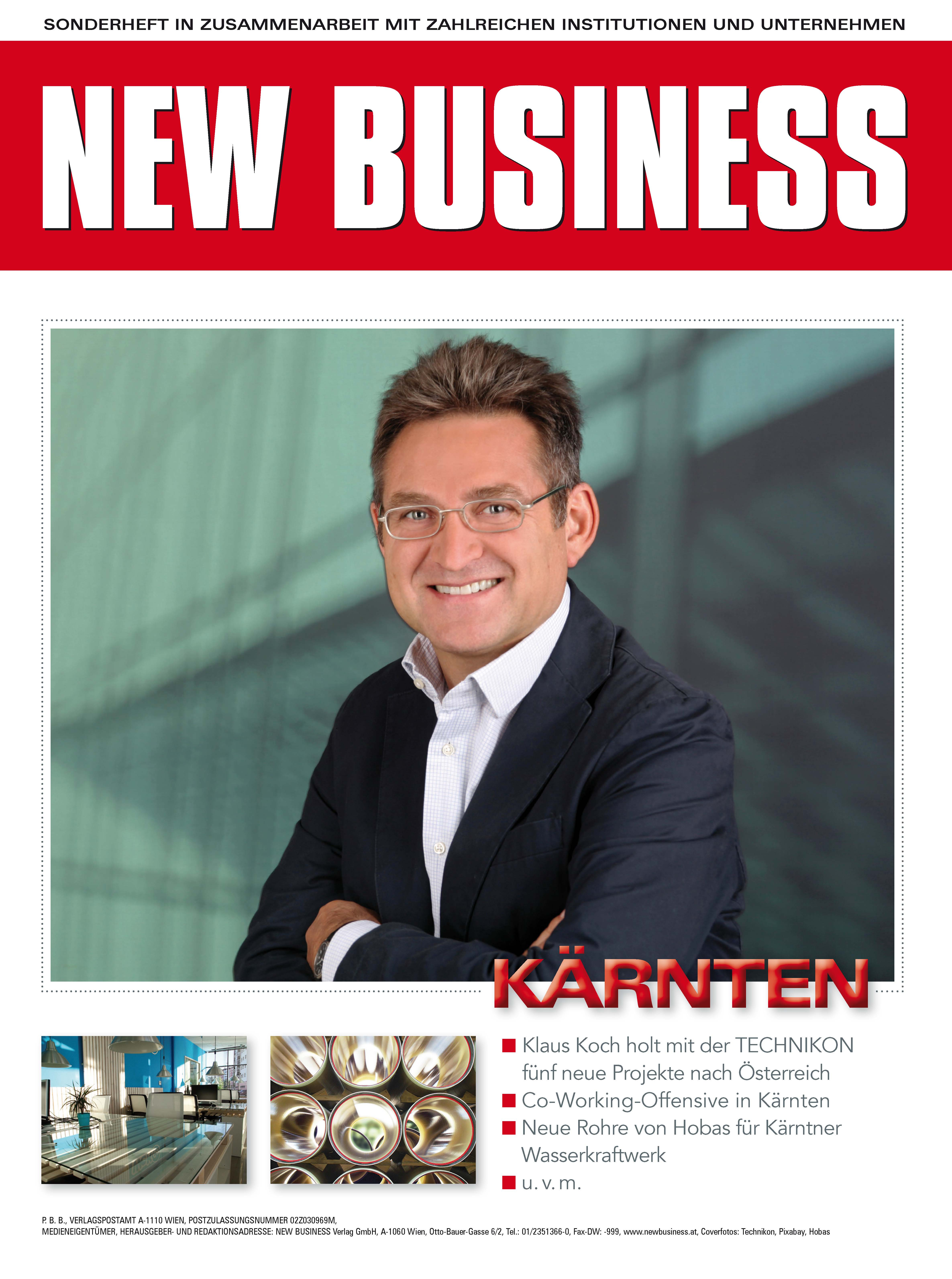 Cover: NEW BUSINESS Bundeslandspecial - KÄRNTEN 2017