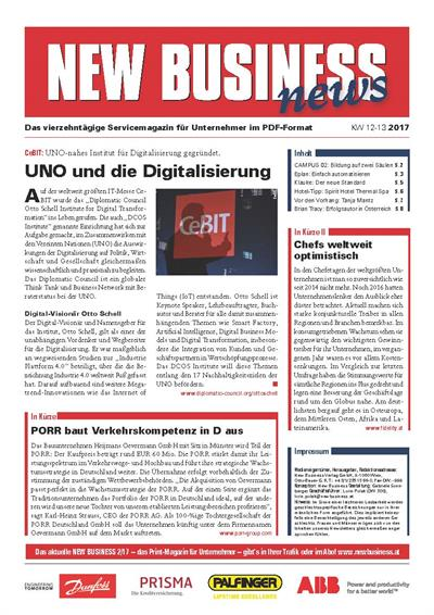 Cover: NEW BUSINESS News - 12-13/2017