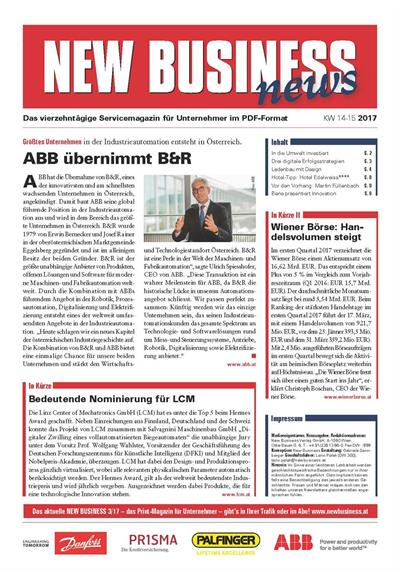 Cover: NEW BUSINESS News - 14-15/2017