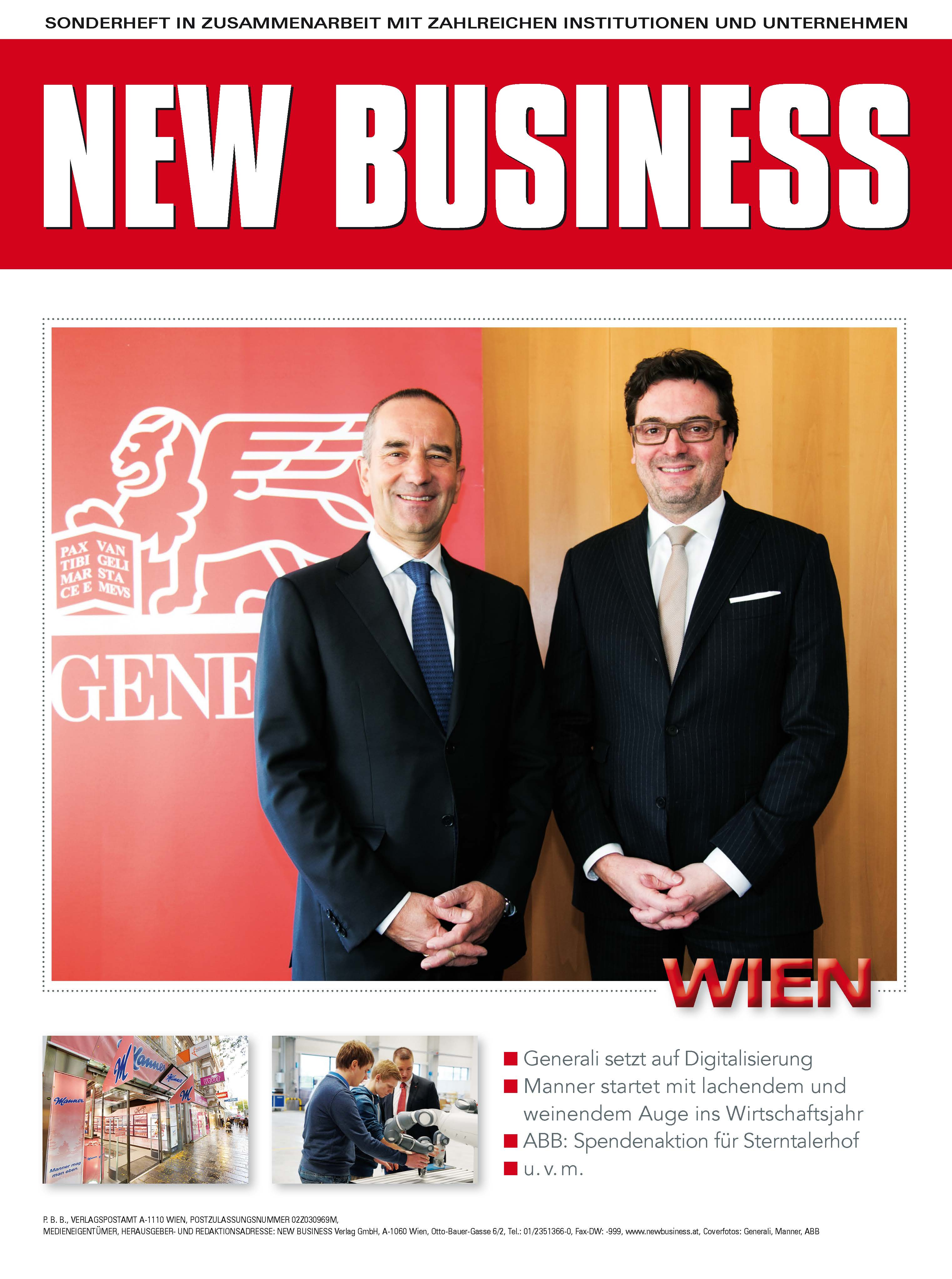 Cover: NEW BUSINESS Bundeslandspecial - WIEN 2017