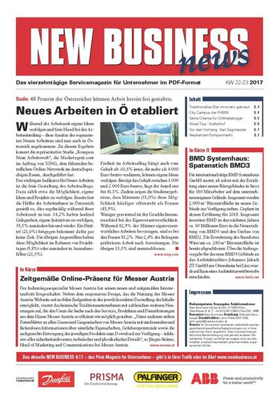 Cover: NEW BUSINESS News - 22-23/2017