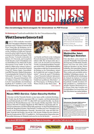 Cover: NEW BUSINESS News - 24-25/2017