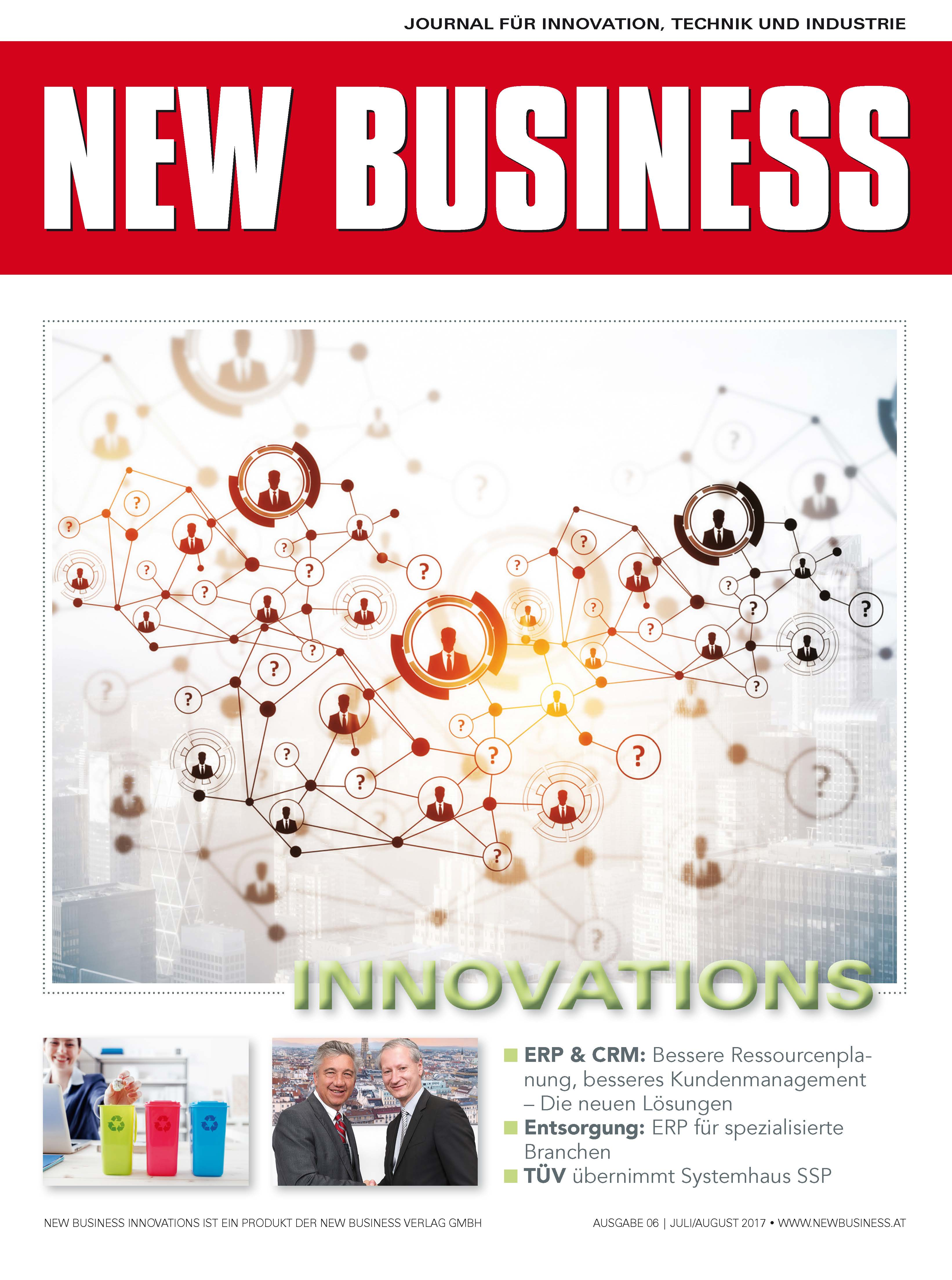 Cover: NEW BUSINESS Innovations - NR. 06, JULI/AUGUST 2017