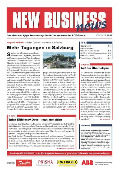 Cover: NEW BUSINESS News - 34-35/2017