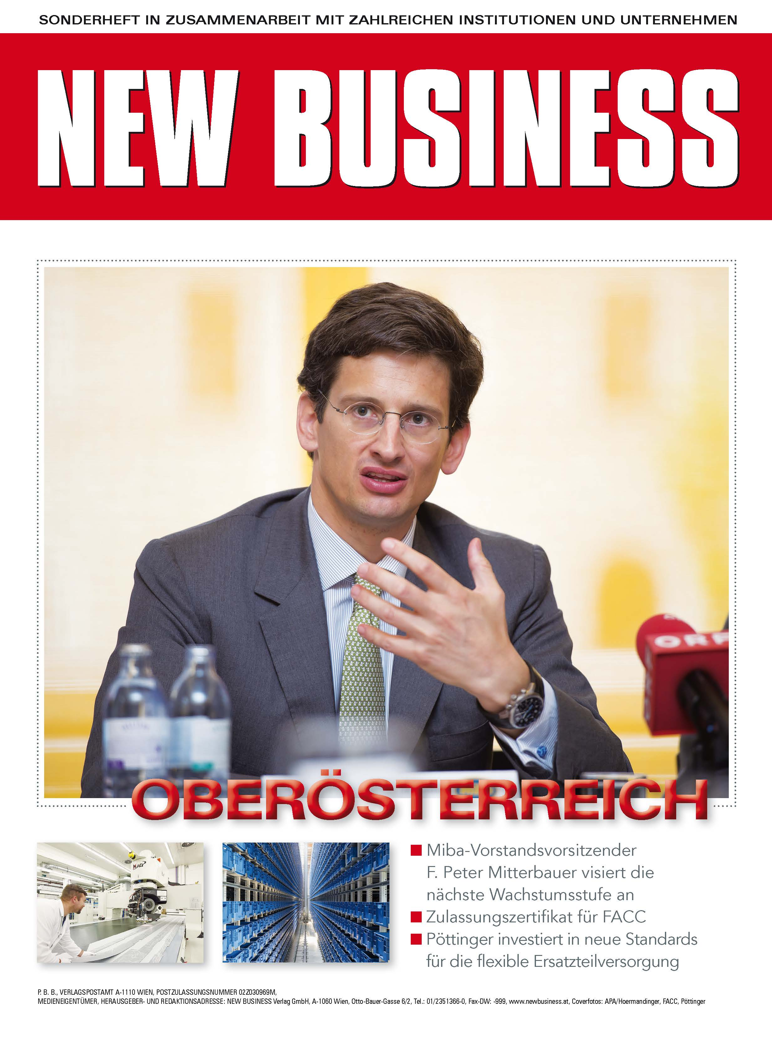 Cover: NEW BUSINESS Bundeslandspecial - OBERÖSTERREICH 2017