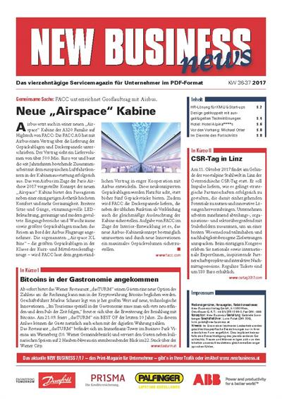 Cover: NEW BUSINESS News - 36-37/2017