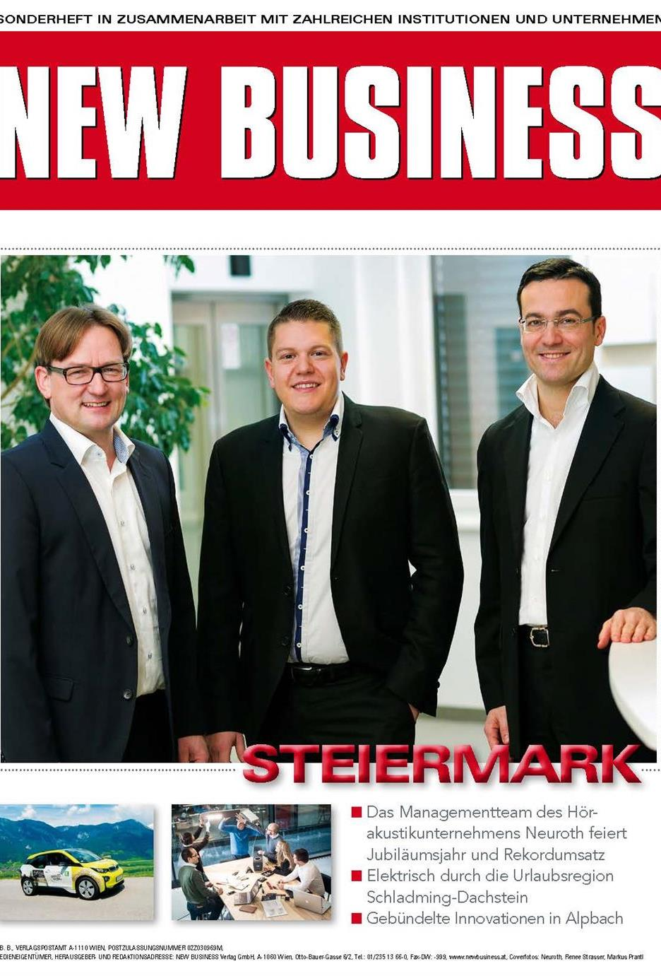 Cover: NEW BUSINESS Bundeslandspecial - STEIERMARK 2017