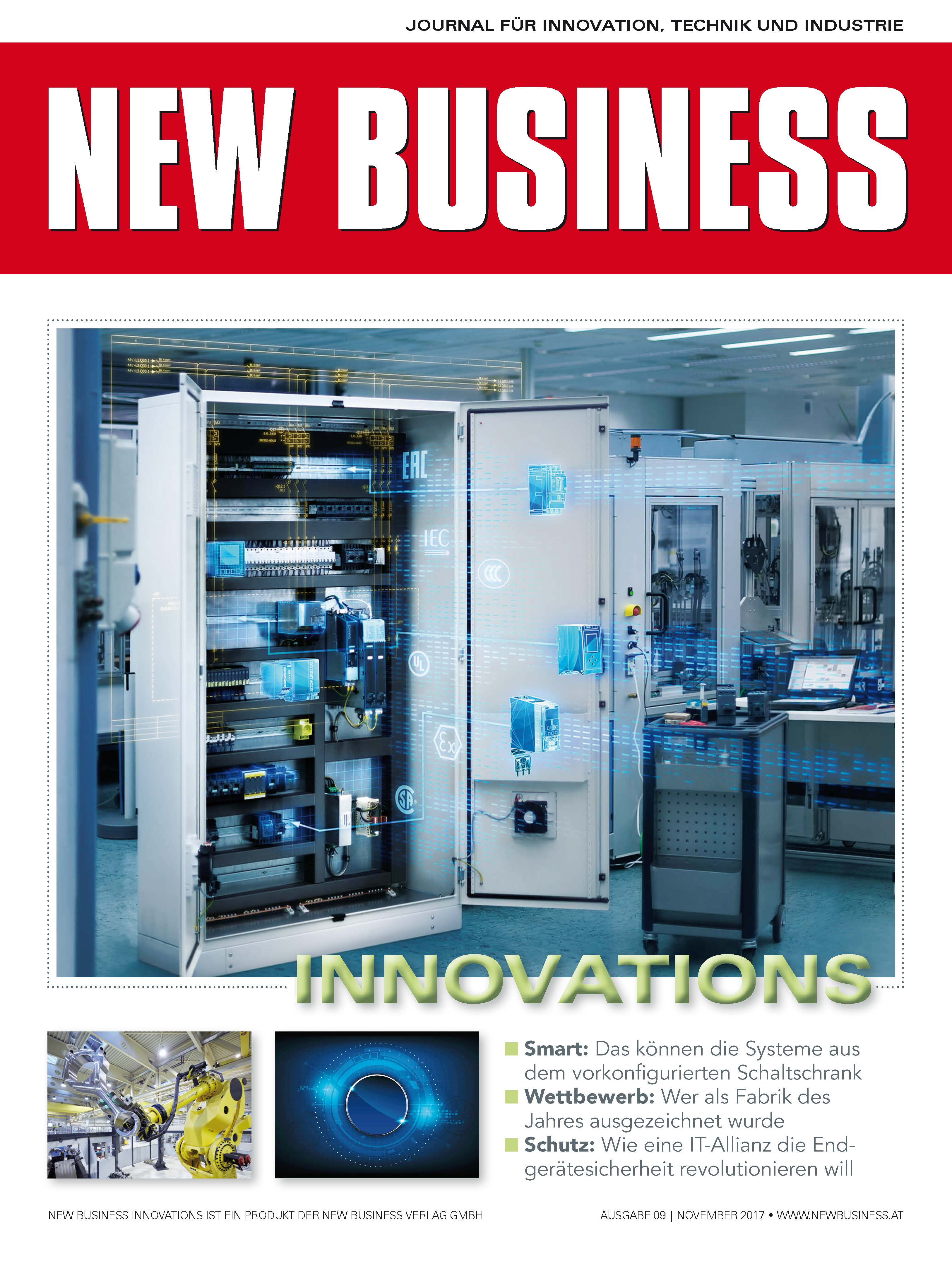 Cover: NEW BUSINESS Innovations - NR. 09, NOVEMBER 2017