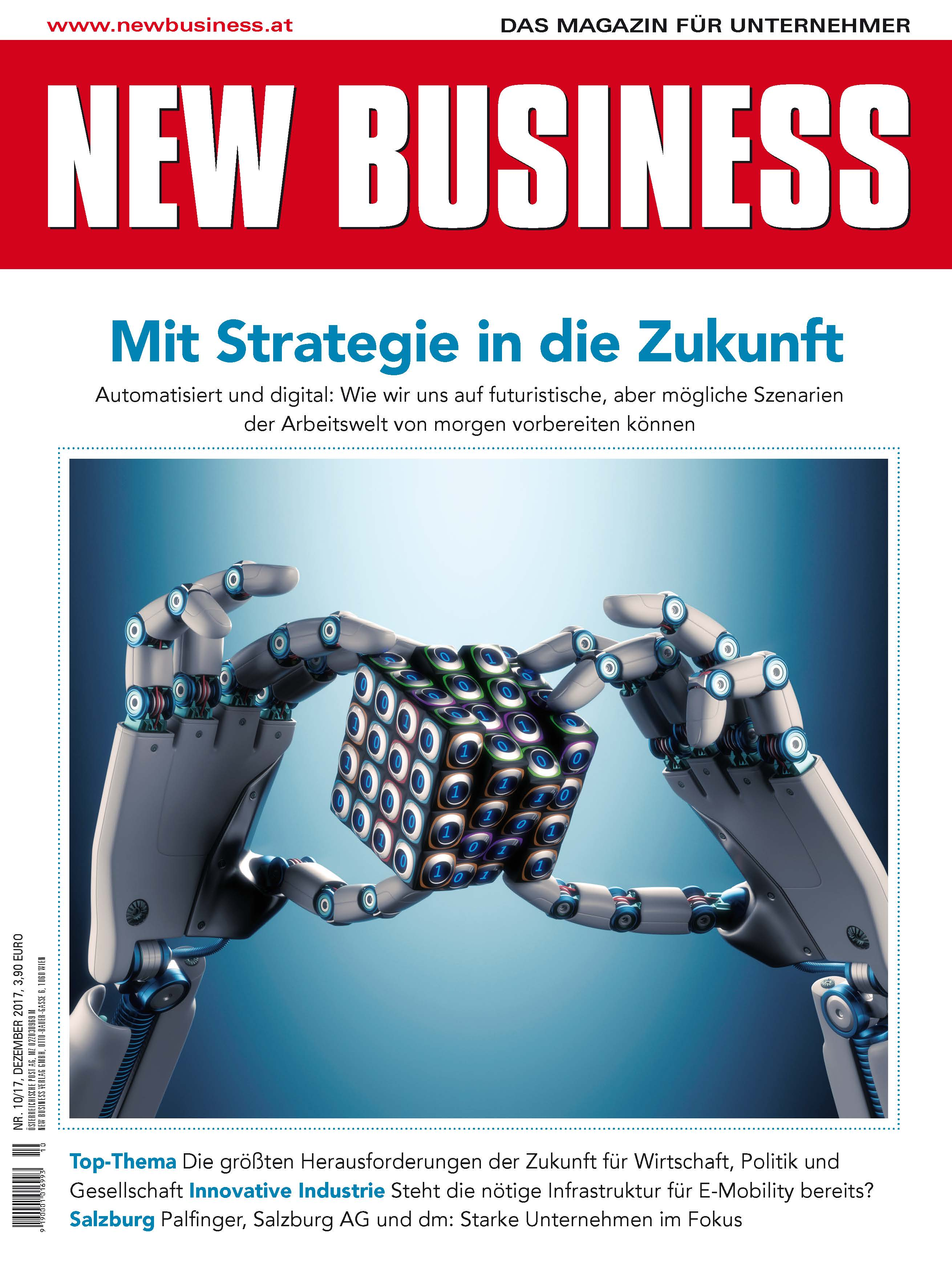 Cover: NEW BUSINESS - NR. 10, DEZEMBER 2017