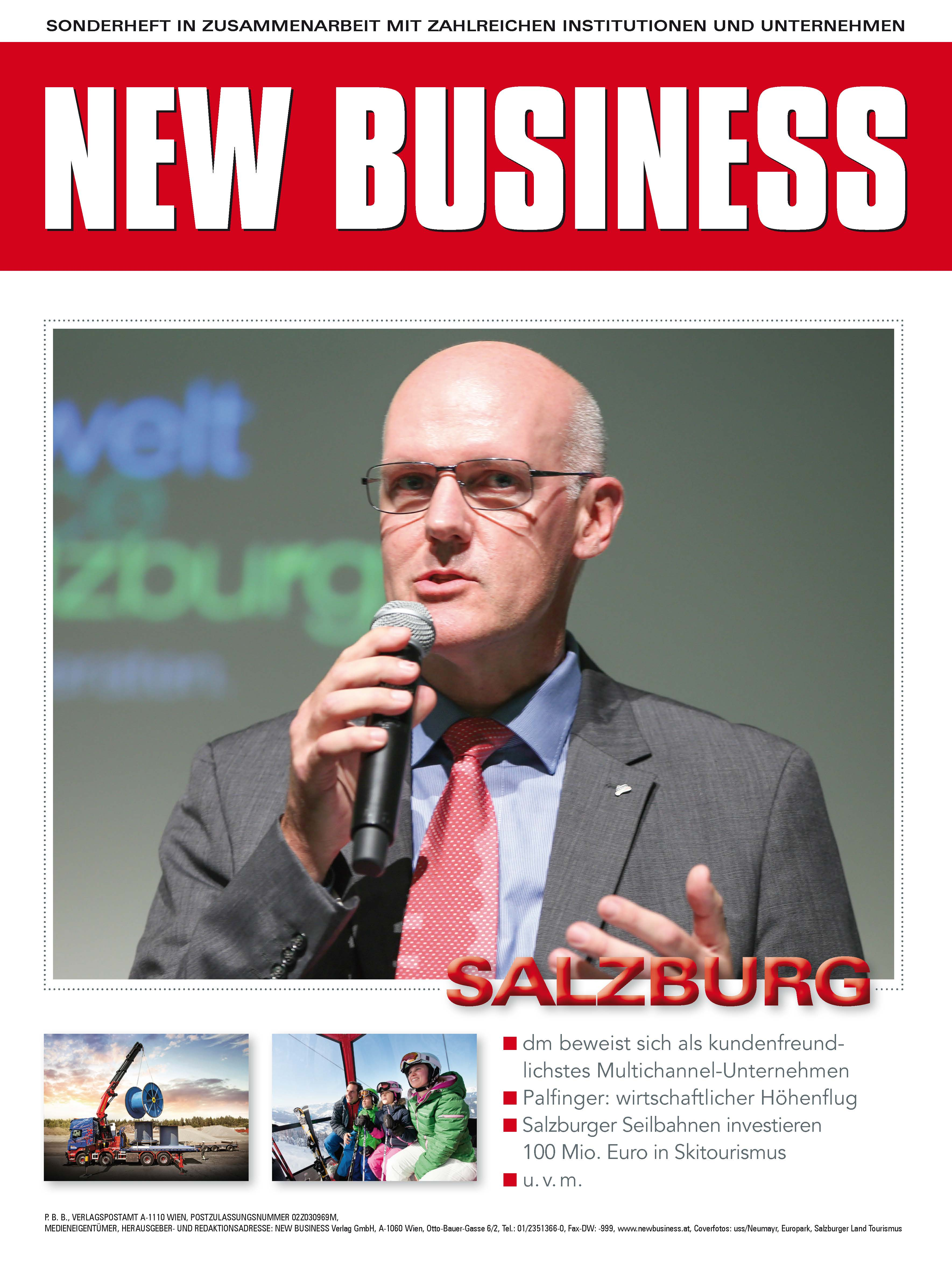 Cover: NEW BUSINESS Bundeslandspecial - SALZBURG 2017
