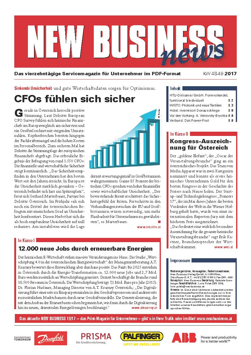Cover: NEW BUSINESS News - 48-49/2017