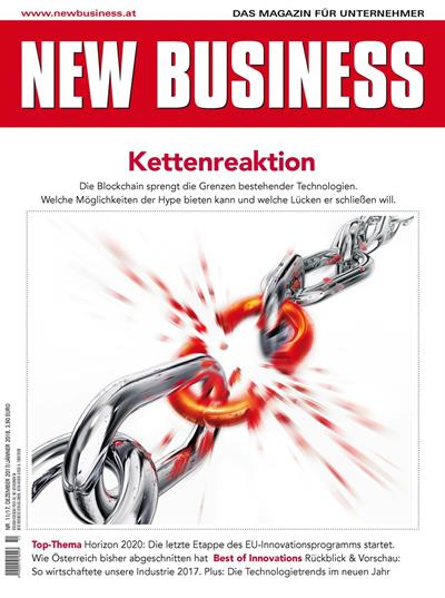 Cover: NEW BUSINESS - NR. 11, DEZEMBER 2017/JÄNNER 2018