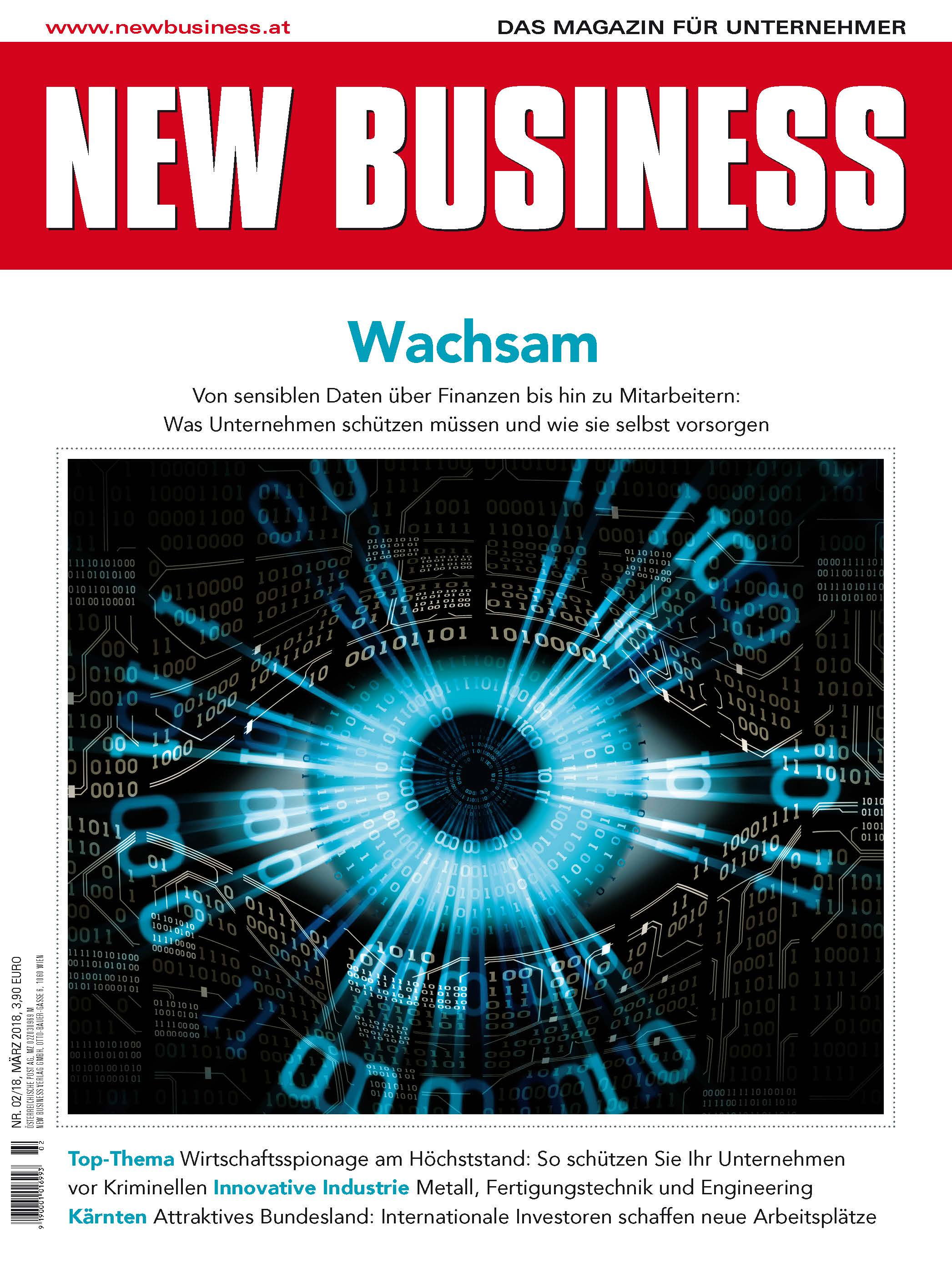 Cover: NEW BUSINESS - NR. 2, MÄRZ 2018