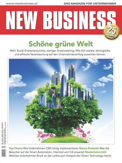 Cover: NEW BUSINESS - NR. 3, APRIL 2018