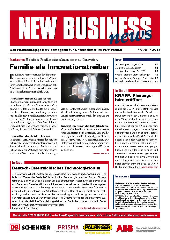 25-26/2018 - NEW BUSINESS News