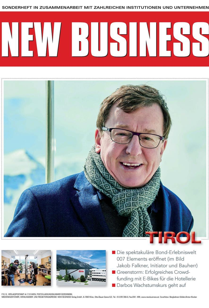 Cover: NEW BUSINESS Bundeslandspecial - TIROL 2018