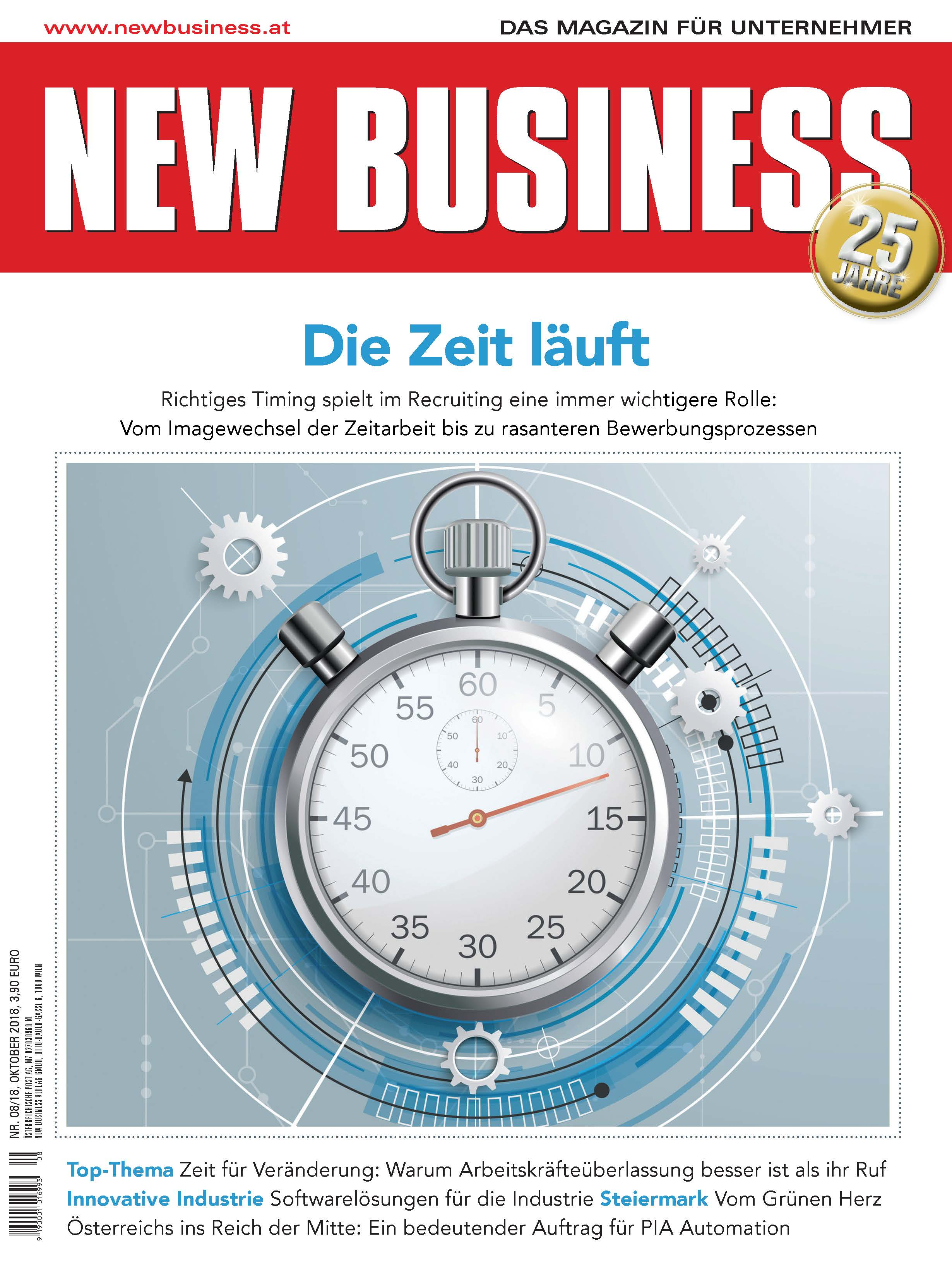 Cover: NEW BUSINESS - NR. 8, OKTOBER 2018