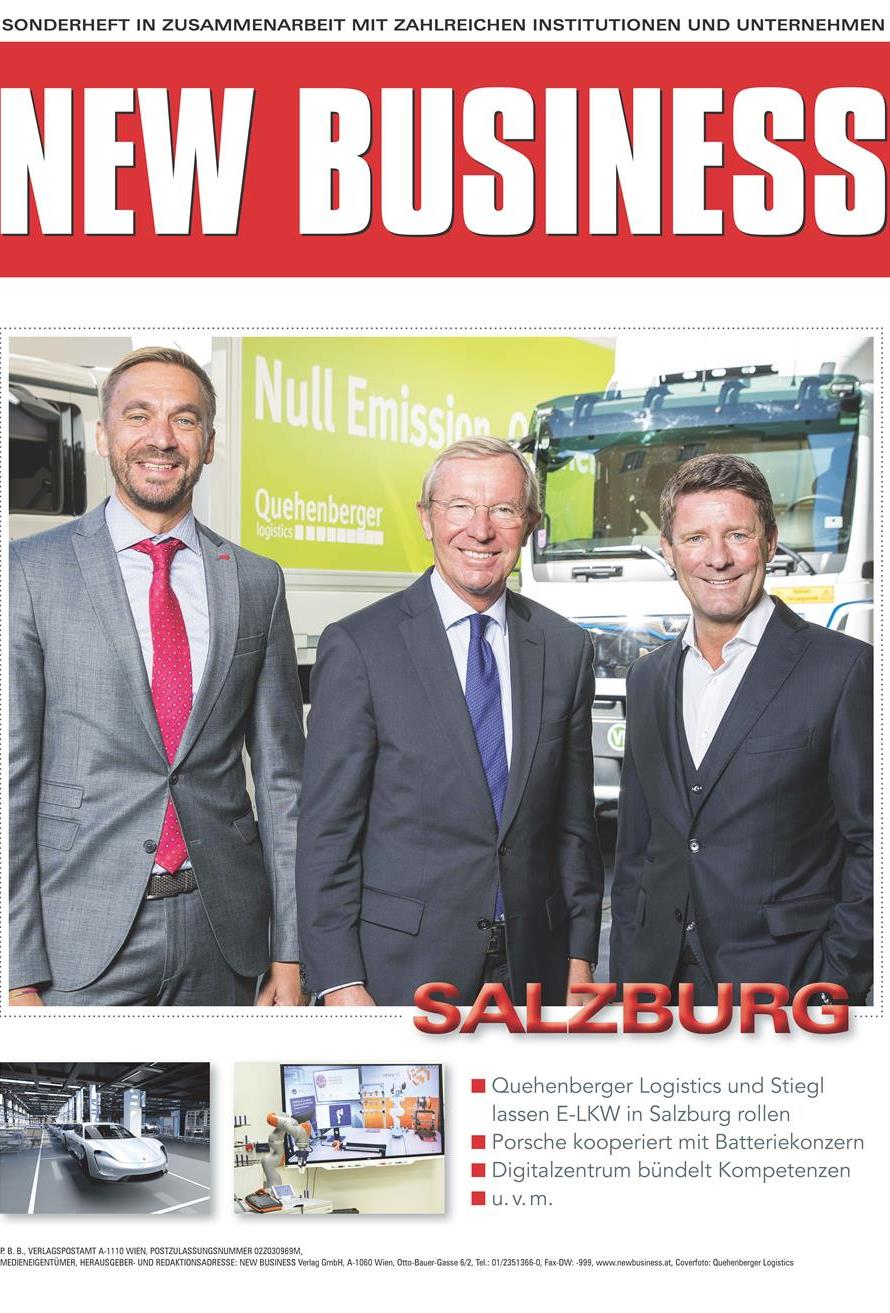 Cover: NEW BUSINESS Bundeslandspecial - SALZBURG 2018