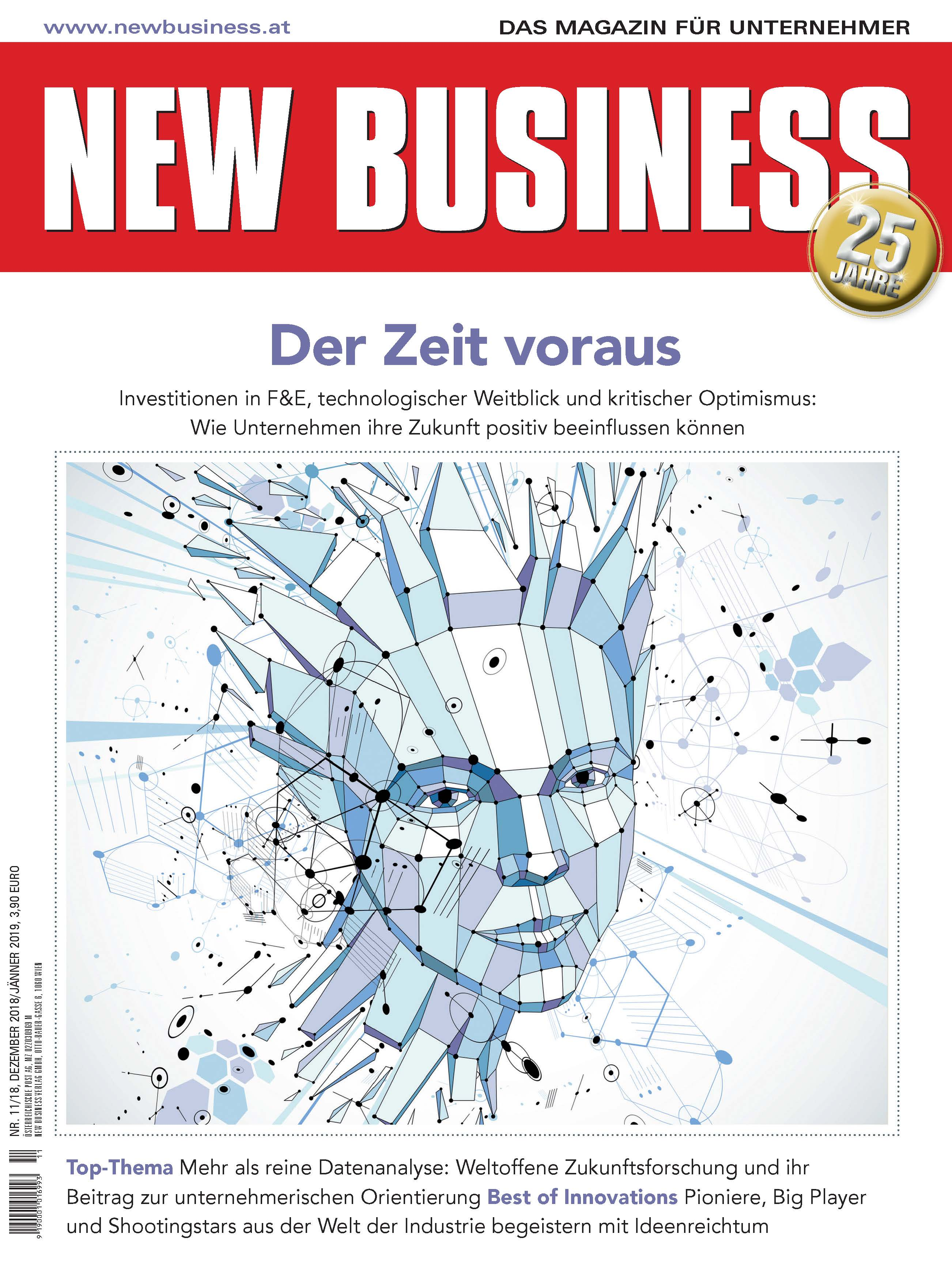 Cover: NEW BUSINESS - NR. 11, DEZEMBER 2018/JÄNNER 2019