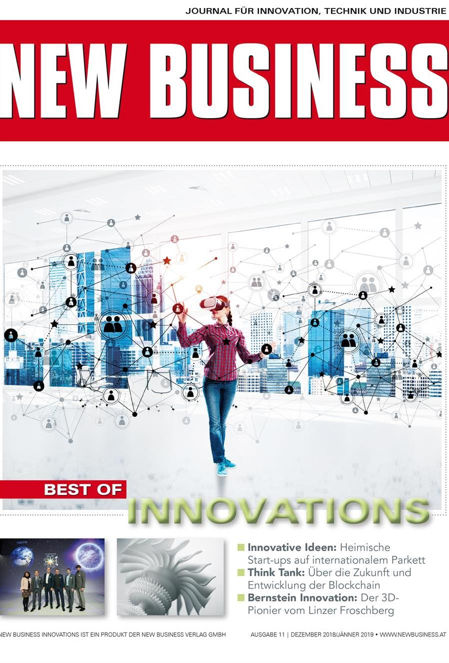 Cover: NEW BUSINESS Innovations - NR.11, DEZEMBER 2018/JÄNNER 2019