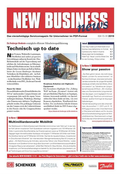 Cover: NEW BUSINESS News - 05-06/2019