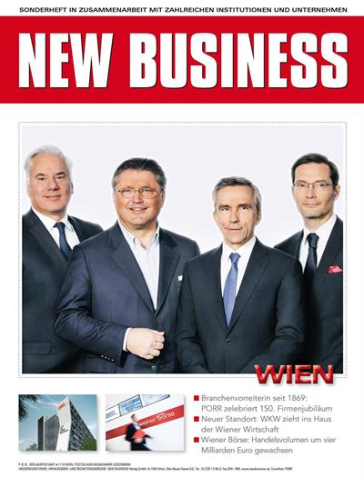 Cover: NEW BUSINESS Bundeslandspecial - WIEN 2019