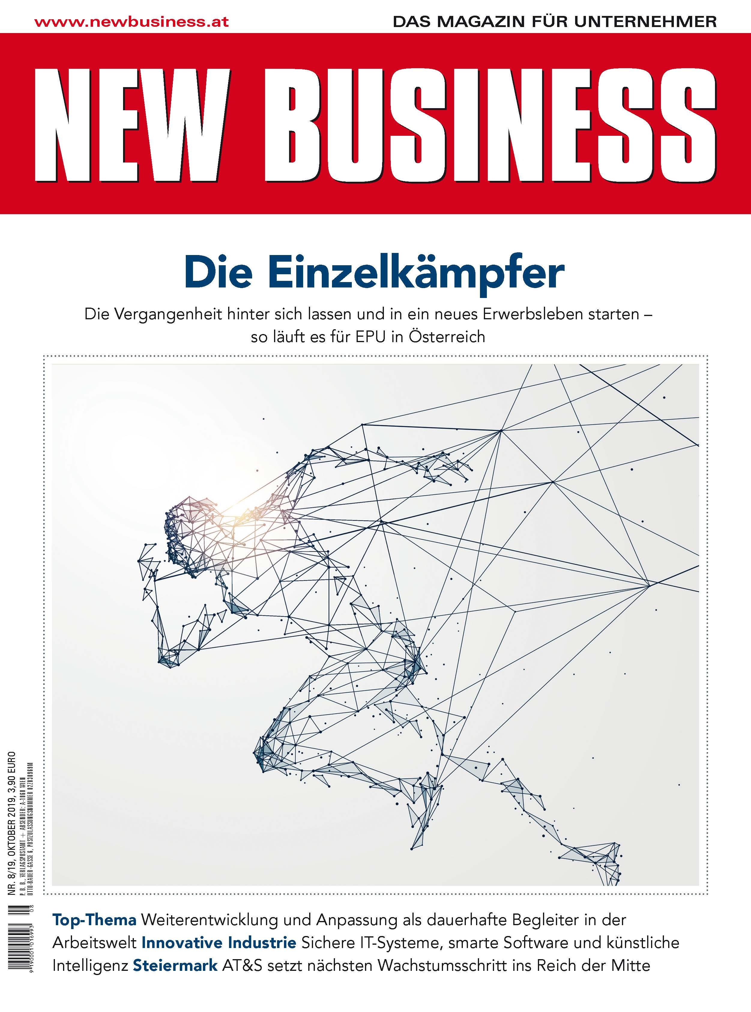 Cover: NEW BUSINESS - NR. 8, OKTOBER 2019