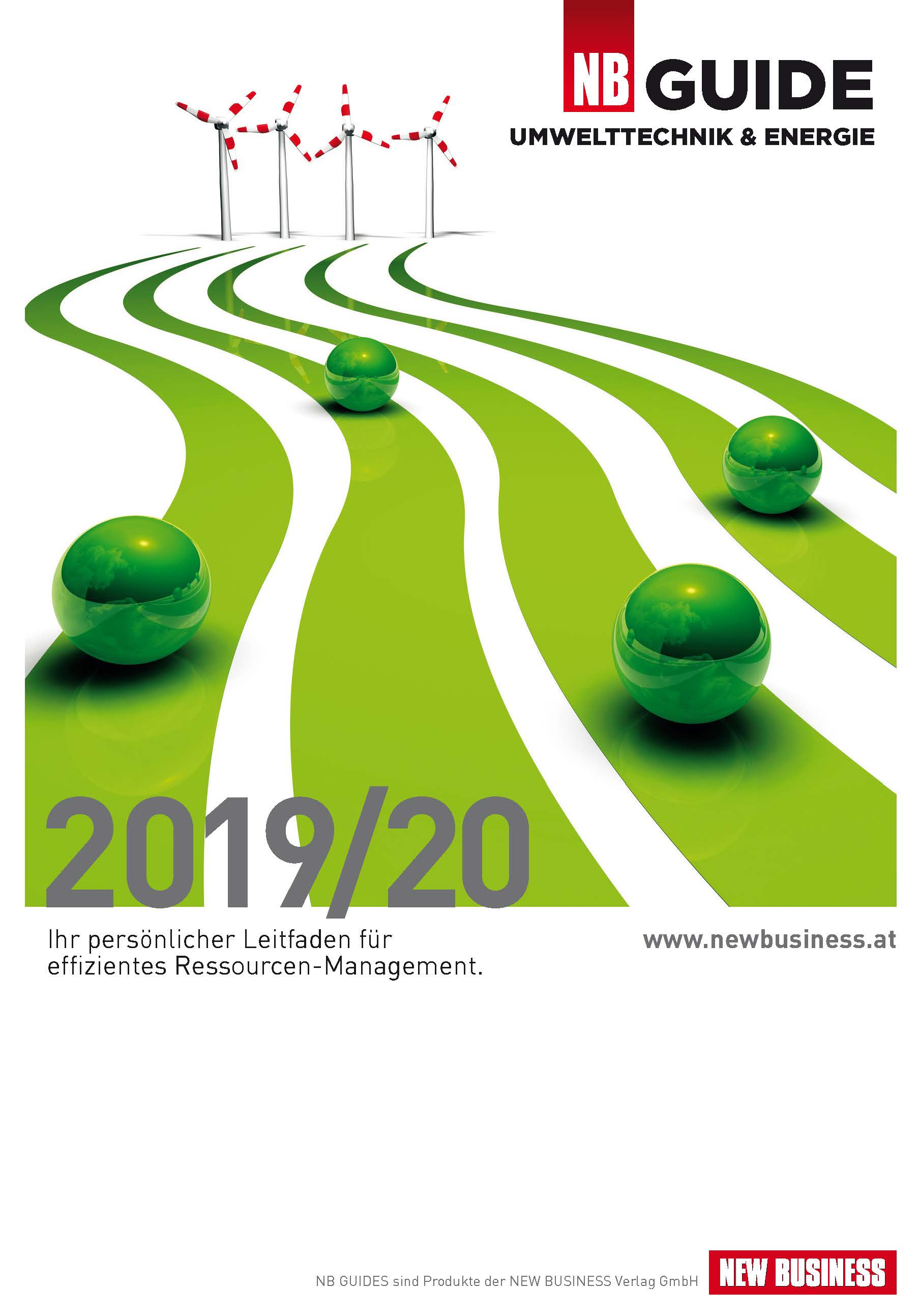 Cover: NEW BUSINESS Guides - UMWELTTECHNIK- & ENERGIE-GUIDE 2019/20