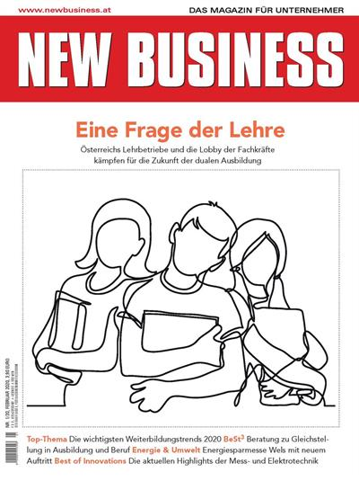 Cover: NEW BUSINESS - NR. 1, FEBRUAR 2020