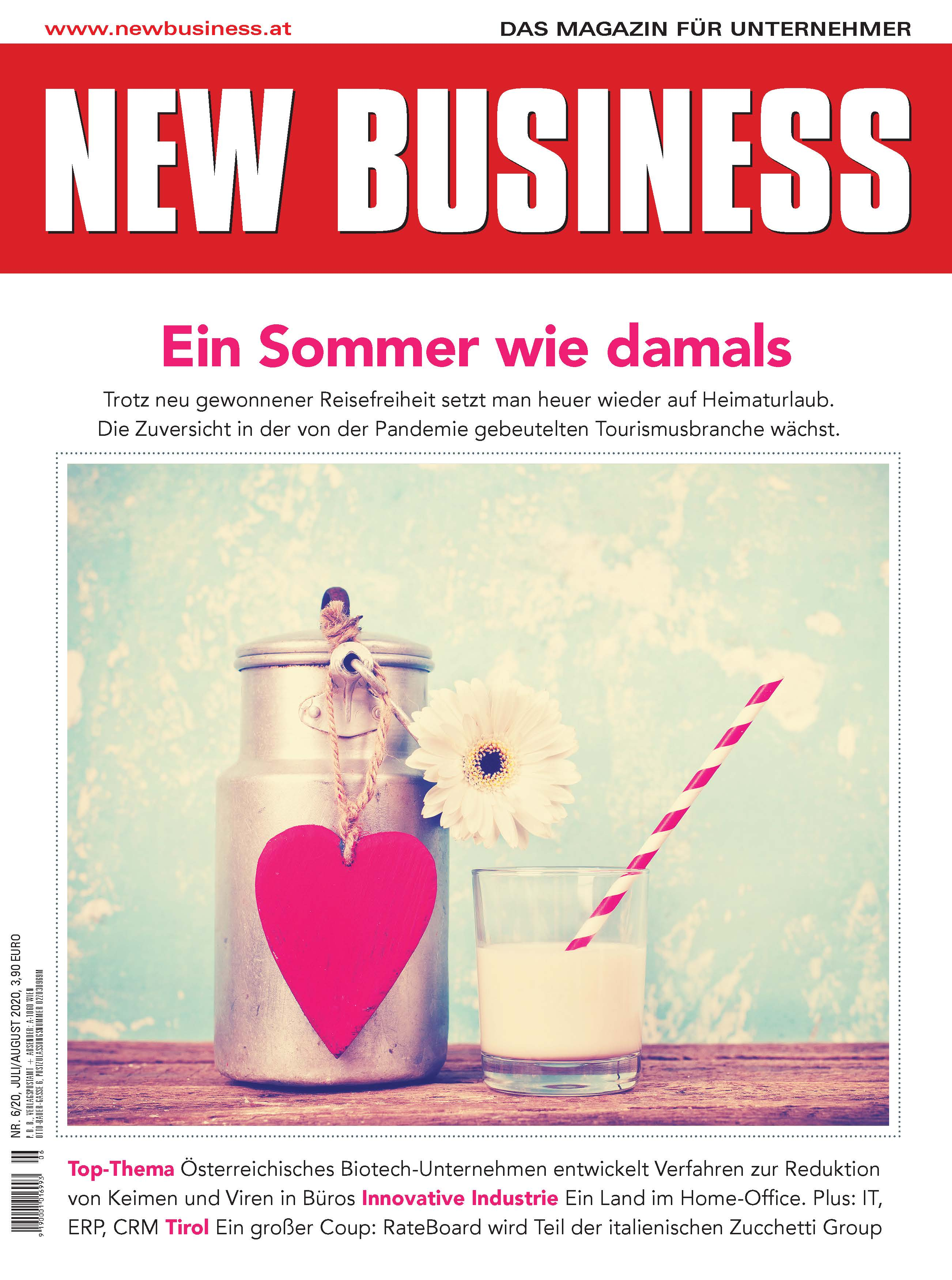 Cover: NEW BUSINESS - NR. 6, JULI/AUGUST 2020
