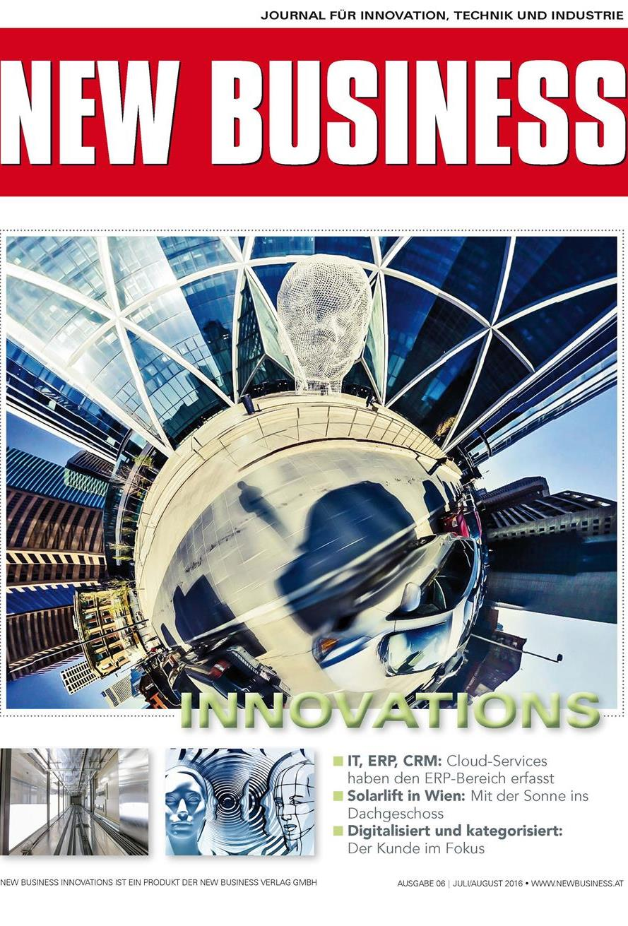 Cover: NEW BUSINESS Innovations - NR. 06, JULI/AUGUST 2016